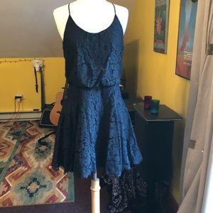 Joie S Black Lace Racer Back Dress